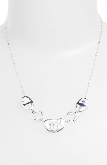 Nadri 'Sculpted' Sterling Silver Frontal Necklace