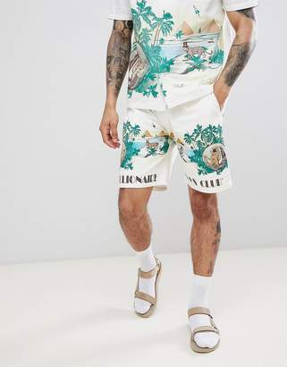 Billionaire Boys Club Landscape Scenery Shorts In White