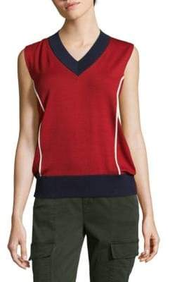 Prada V-Neck Sleeveless Sweater