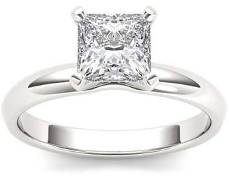 Imperial Diamond Imperial 1 Carat T.W. Diamond Princess-Cut Solitaire 14kt White Gold Engagement Ring