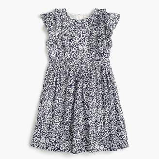 J.Crew Girls' ruffle-trimmed dress in sparkly floral