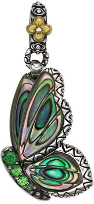 Barbara Bixby Sterling/18K Carved Abalone Butterfly Charm