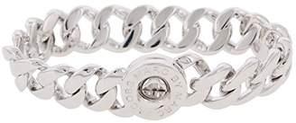 Marc by Marc Jacobs Womens Katie Brass Turn Lock Chain Bracelet