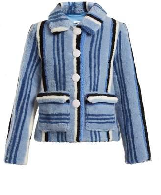 SAKS POTTS Lucy striped shearling jacket