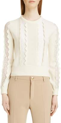 Chloé Lace Inset Sweater