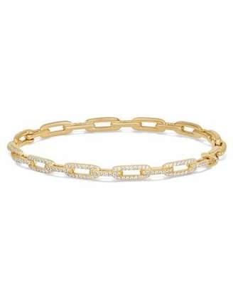 David Yurman Stax Chain Link Bracelet in 18k Yellow Gold w/ Diamonds $4,250 thestylecure.com