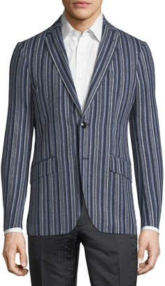 Etro Striped Wool-Blend Sport Coat