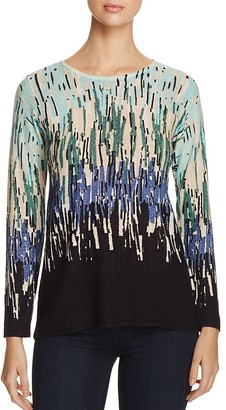 NIC and ZOE Glowing Edge Color Block Line Top $138 thestylecure.com