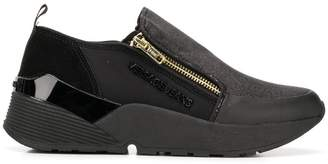 Versace zipped sneakers