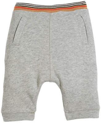 Burberry Andy Heathered Striped-Waist Sweatpants, Size 6M-3