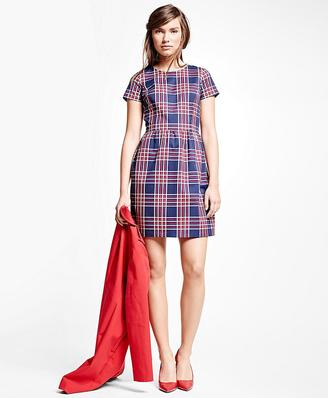 Cotton Blend Plaid Dress $168 thestylecure.com
