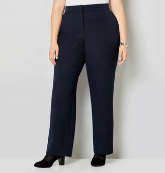 Avenue Plus Size Luxe Cool Hand Curvy Straight Leg Pant With Tummy Control
