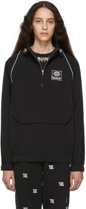 Misbhv Black Half-Zip Raglan Jacket
