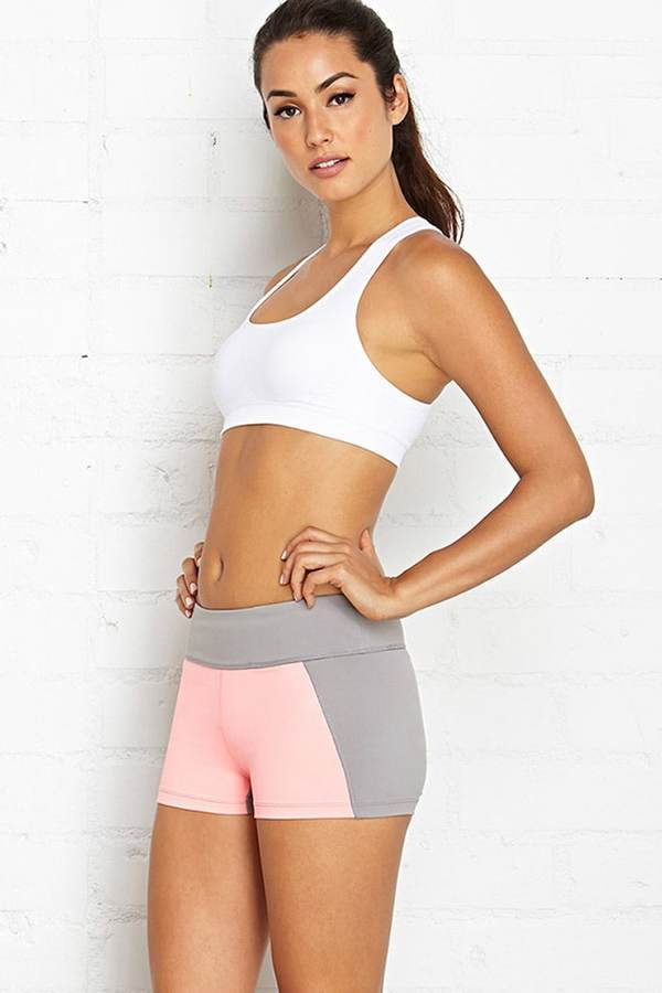 Forever 21 colorblocked workout shorts