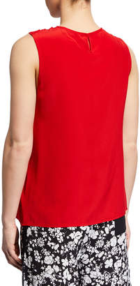 Yigal Azrouel Knotted Halter Drape Tank Top