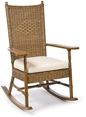 One Kings Lane Hampton's Wicker Rocking Chair - Chestnut
