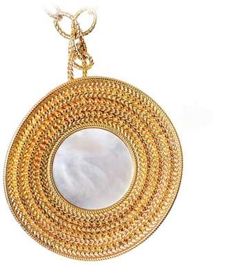 Mother of Pearl Carrera y Carrera Ruedo 18K Yellow Gold & Maxi Pendant Necklace