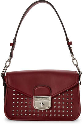 Longchamp Burgundy Mademoiselle Rock Satchel
