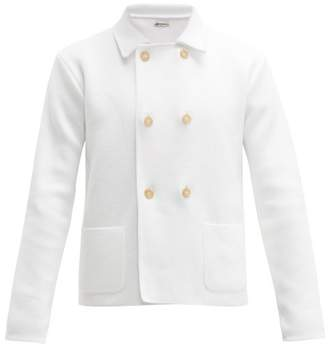 Connolly - Cropped Double Breasted Cotton Blazer - Mens - White