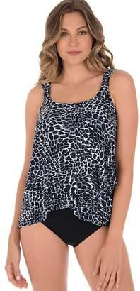 Miraclesuit Luxe Leopard Dazzle Tankini Swim Top
