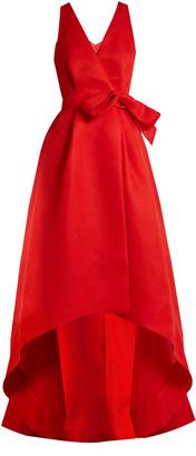 OSCAR DE LA RENTA Cut-out back wrap-front silk-gazar gown $5,290 thestylecure.com