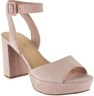 Marc Fisher Suede Platform Sandals with Ankle Strap - Meliza