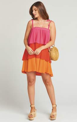 Show Me Your Mumu Gabriela Convertible Skirt Dress ~ Sunset Colorblock