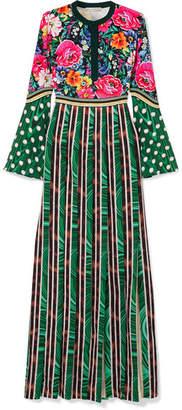 Mary Katrantzou Desmine Printed Satin Maxi Dress - Green
