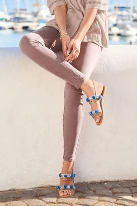 Next Womens Mauve Soft Touch Skinny Jeans - Pink