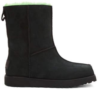 Eckhaus Latta Black and Green UGG Edition Block Boots