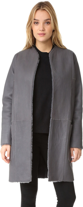 Vince Shearling Reversible Car Coat $2,495 thestylecure.com