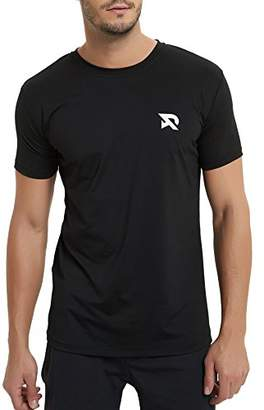 RADHYPE Men Polyester Classic Fit Short Sleeves Athletic Tshirt Training Top S