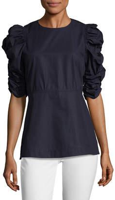 Celine Ruched Sleeve Top