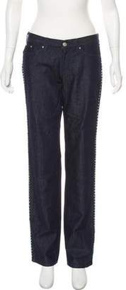 Versace Mid-Rise Straight-Leg Jeans w/ Tags