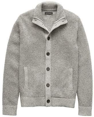 Banana Republic Cotton Mock-Neck Cardigan Sweater