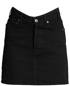Balenciaga Women's V-Waist Denim Mini Skirt