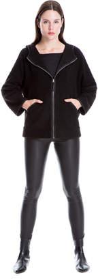 Max Studio low pile fur hoodie