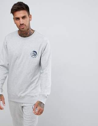 Diesel mohawk logo sweatshirt gray marl