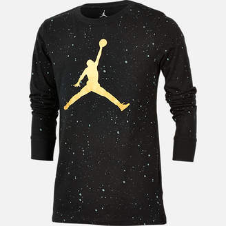 Jordan Boys' Speckle Long Sleeve T-Shirt