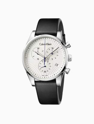 Calvin Klein steadfast leather chronograph watch