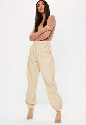 Missguided Sand 80's Twill Joggers