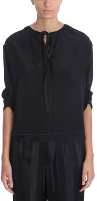 Marc Jacobs Lace Details Black Silk Blouse