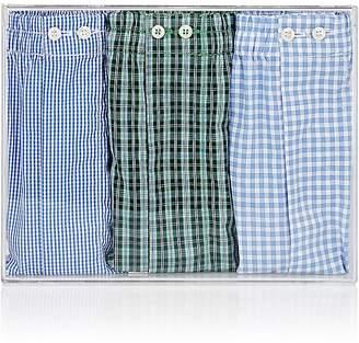 Barneys New York Men's Cotton Boxer Shorts Set $195 thestylecure.com