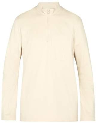 Y-3 Y 3 Sashiko Zipped Cotton Sweatshirt - Mens - Beige