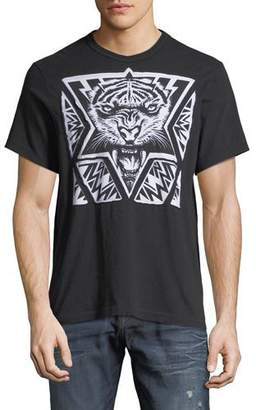 True Religion Laser-Cut Tiger Graphic T-Shirt