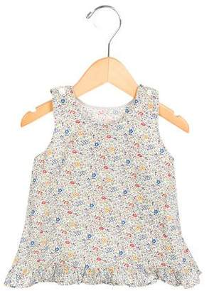 Makie Girls' Floral Print Sleeveless Top