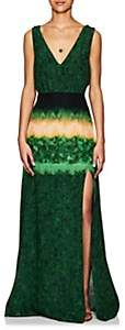 Altuzarra Women's Tie-Dyed Silk Maxi Dress - Ceramic Green