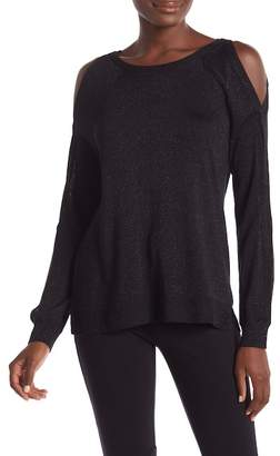Vince Camuto Metallic Cold Shoulder Sweater