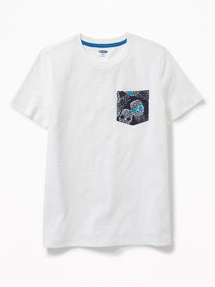 Old Navy Printed-Pocket Tee for Boys