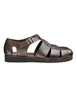 9cc56133a37a Fashion World Leather Fisherman Sandal Wide Fit